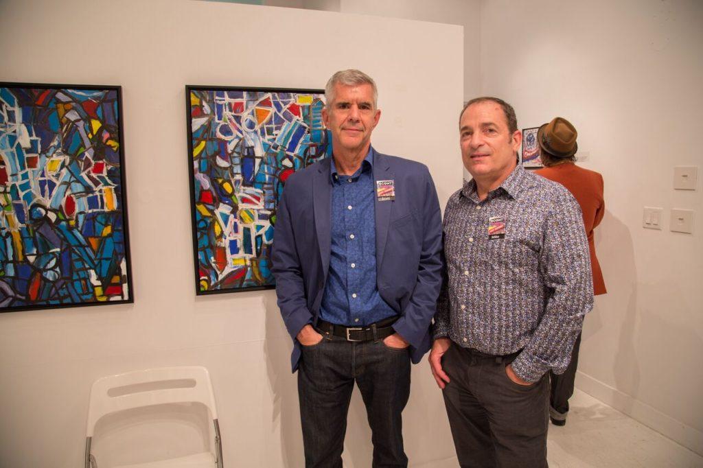 Rosie Cashman BCCA Art Show Mike and Scott 2