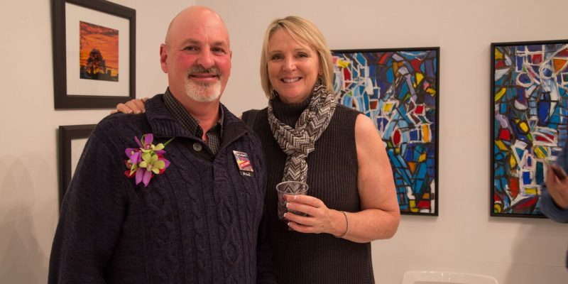 Rosie Cashman BCCA Art Show brad and shelley