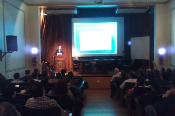The Argentine Medical Association's Auditorium during Dr V Camargo's lecture
