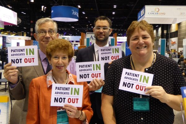 ASCO 2015 Patients In Not Out KO, GO, Matt Pitt and Jean Arzbaecher P1000076_half