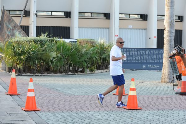 The Hon Minister of Finance of the Cayman Islands, Marco S Archer took part in our brain tumour awareness-raising walk/run