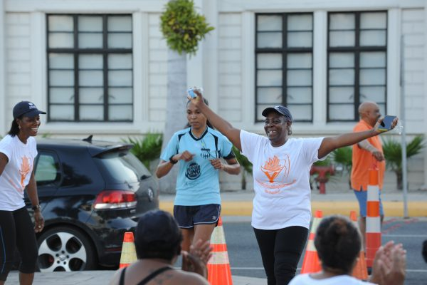Louise Bailey had a lot to smile about – the day of the Cayman Islands brain tumour awareness-raising walk/run was also her birthday
